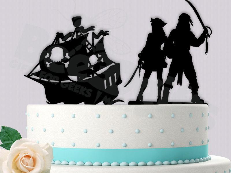 Свадьба - Pirate Couple Cake Topper