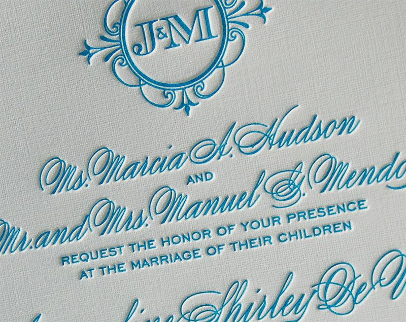 Mariage - Letterpress Wedding Invitation sample, Wedding invitation, Monogram wedding invitation, Classic wedding invitations, Wedding invitations