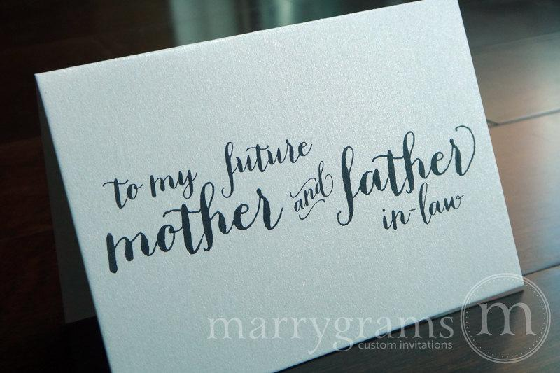 Wedding - Wedding Card to Your Future Mother and Father in-Law - To My Future In-Laws - Parents of the Bride or Groom Cards CS02