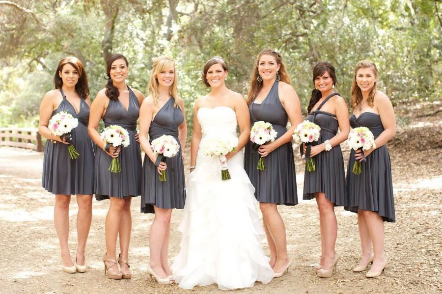 Charcoal Gray Convertible Infinity Bridesmaid Dress #2441407 ...