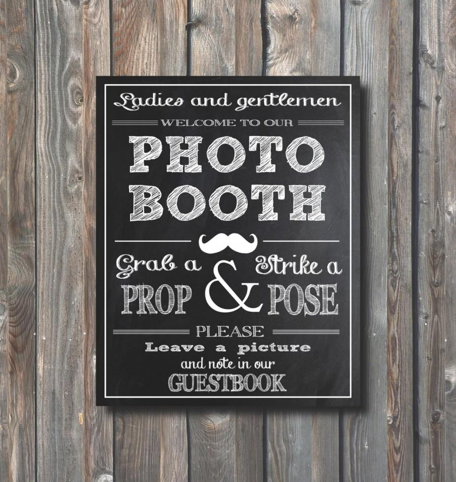 Wedding Photo Booth SignGuestbook Sign Printable