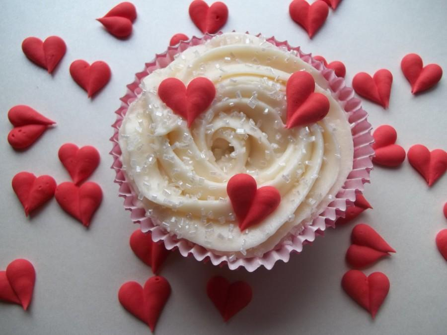 Royal Icing Hearts -- Valentine s Day -- Cake Decorations ...