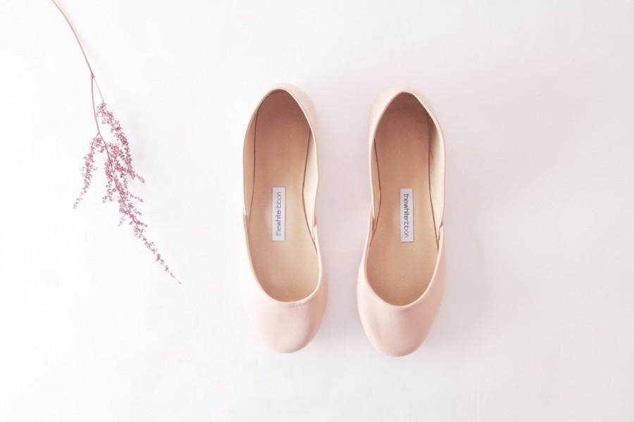 Hochzeit - Nude Ballet Flats