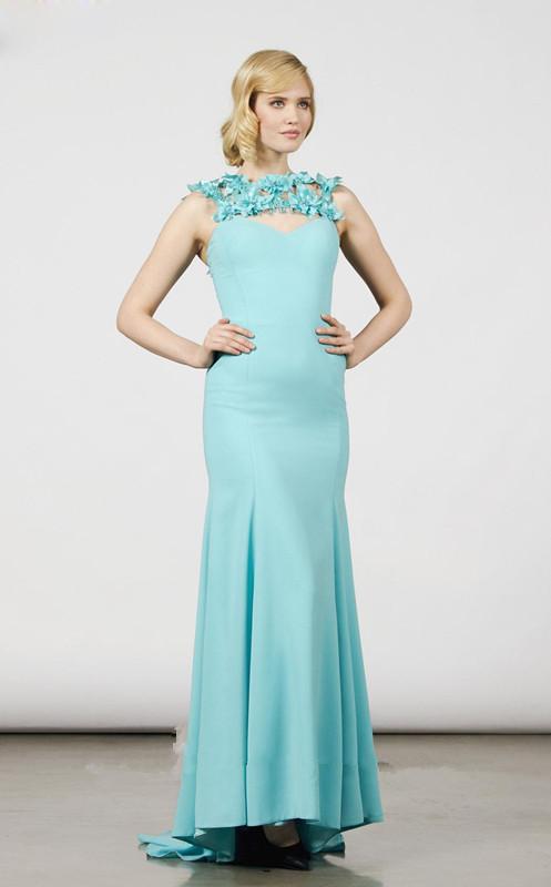 Hochzeit - Floral Splendor Dreamy Evening Dress Saboroma 99928
