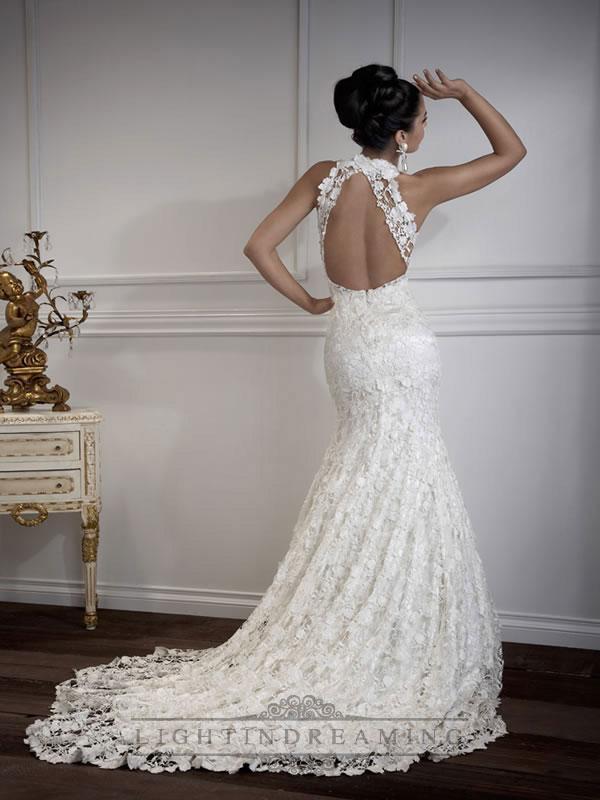 Mariage - Floor Length Mermaid Sweetheart Open Cross Back Wedding Dresses - LightIndreaming.com