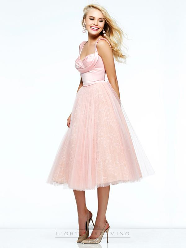 Wedding - Knee Legnth Straps Sweetheart Lace Prom Dresses - LightIndreaming.com