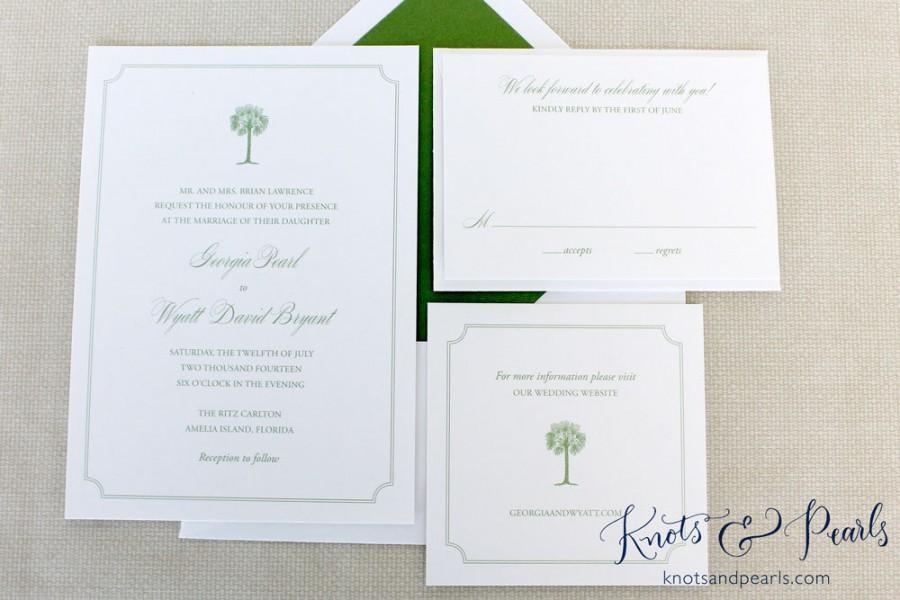 Palm Tree Wedding Invitation, Tropical Wedding Invitation, Beach ...