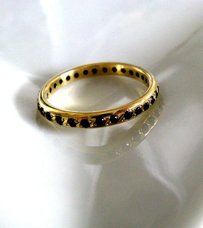 Womens Wedding Infinity Ring Fine Jewelry Handmade 14K Solid