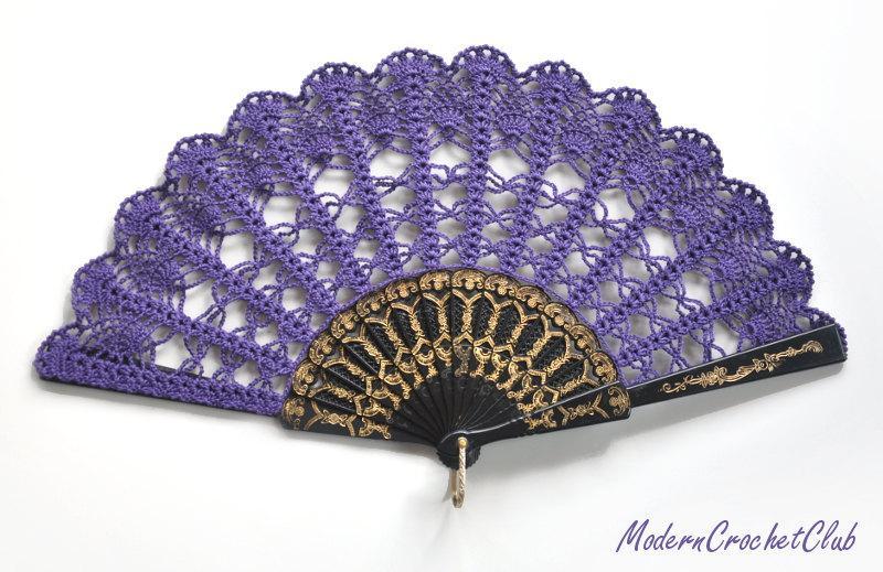 Mariage - Purple Lace Fan- Hand Held Fan- Handmade Lace Hand Fan- Folding Hand Fan- Spanish Wedding Fan- Bridal Fan- Wedding Prop- Mother Gift- Mom