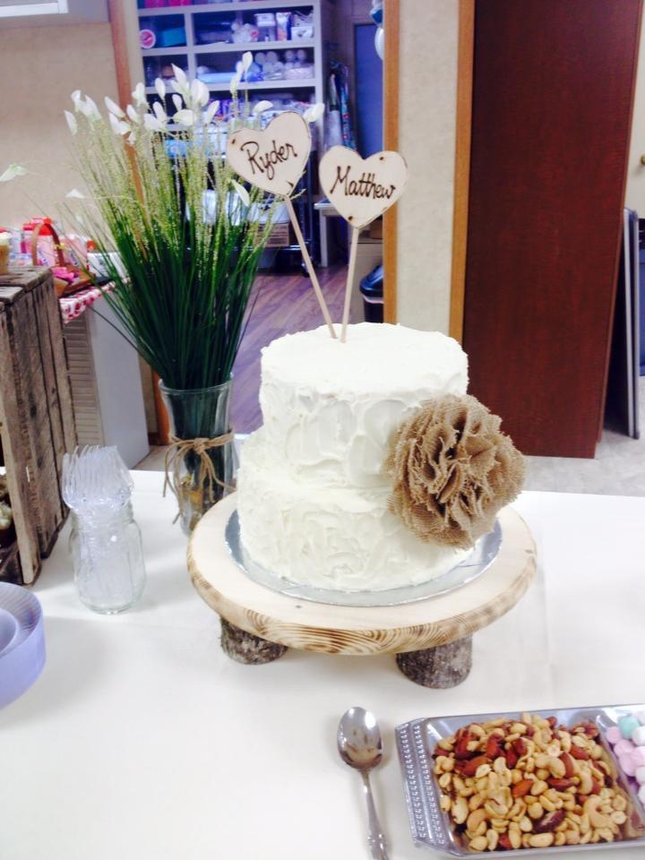 """Mariage - SALE. 6"""" ooak natural burlap flower wedding cake decor.. other colors available"""