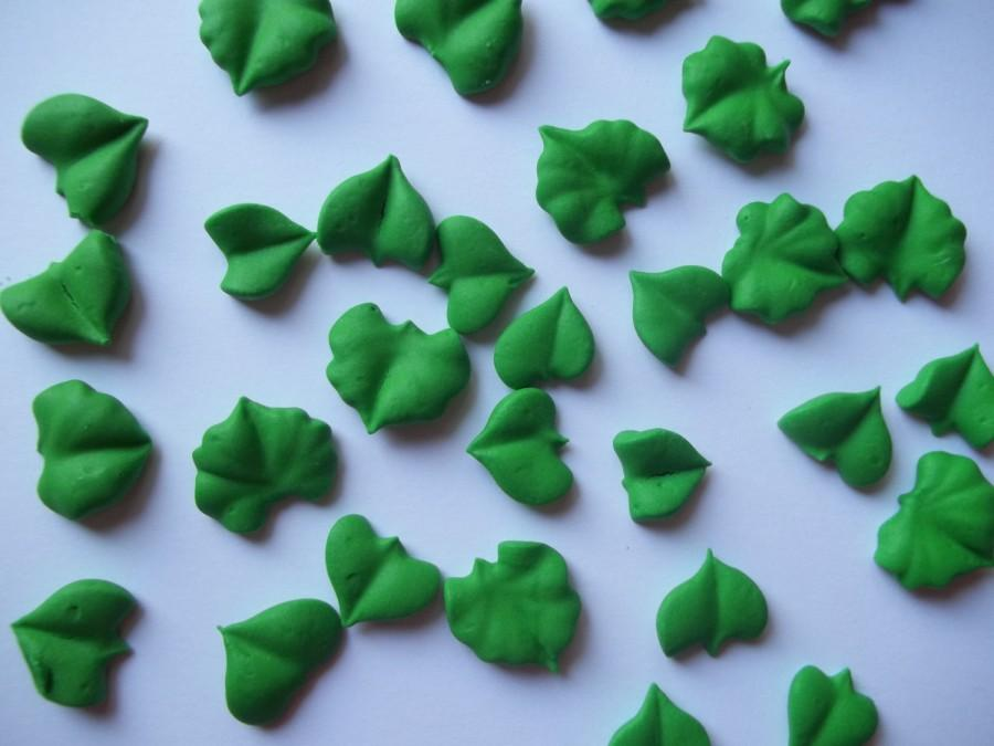 Green Royal Icing Leaves In Assorted Styles -- Cake ...