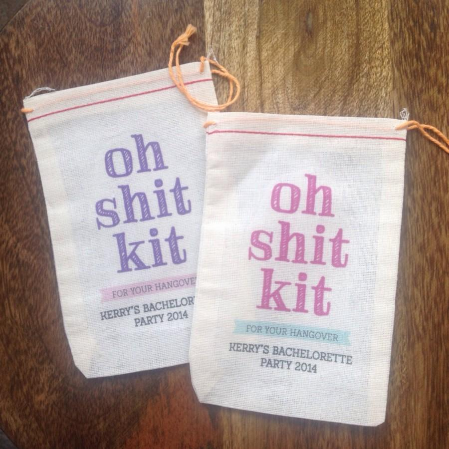 Свадьба - 4x6 Mini Muslin Bags for Bachelorette Kits - Oh Sh!t Kit