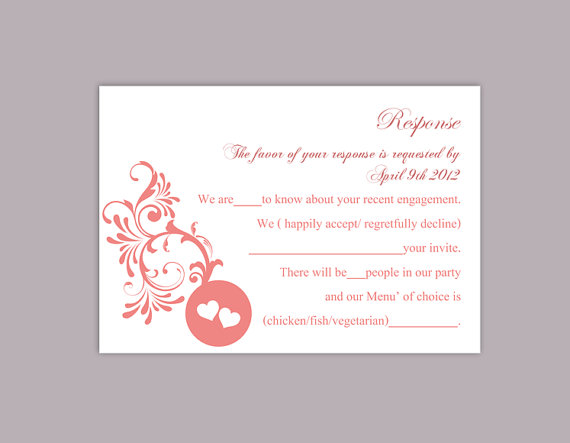 DIY Wedding RSVP Template Editable Word File Instant Download Rsvp Template  Printable RSVP Cards Red Rsvp Card Elegant Rsvp Card  Party Rsvp Template