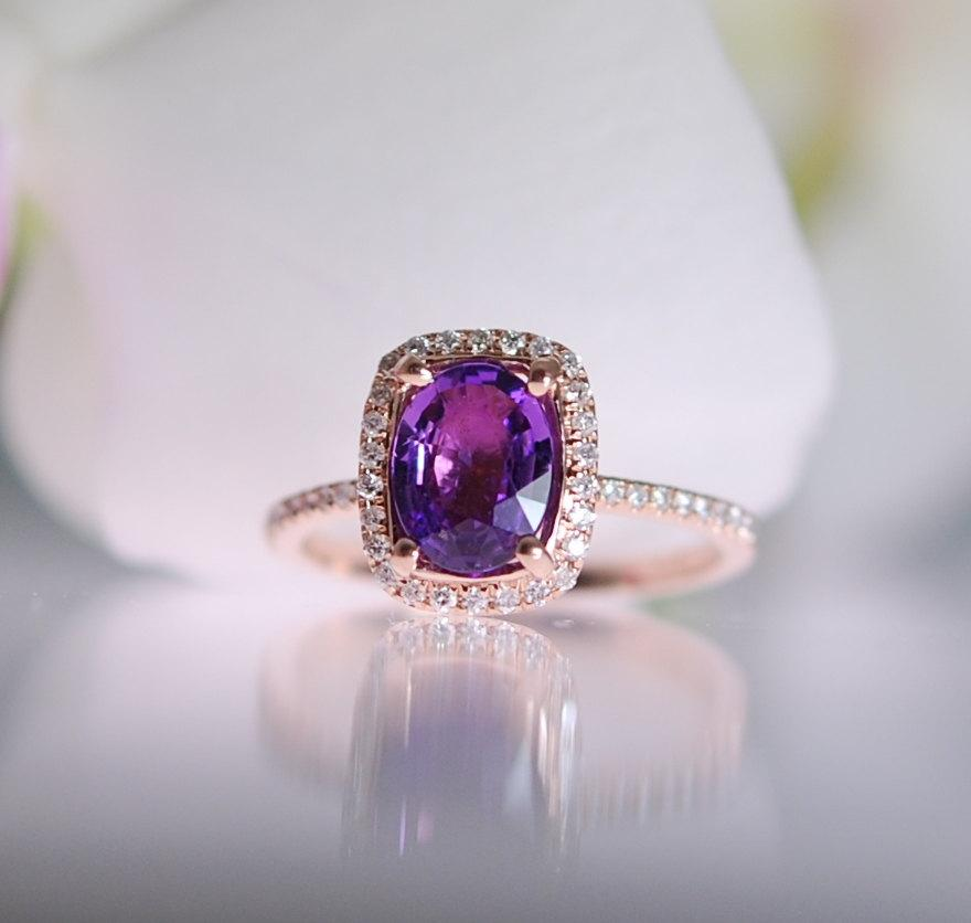 pin sapphire features lavender diamond ring eidelprecious with by rings gold engagement this rose
