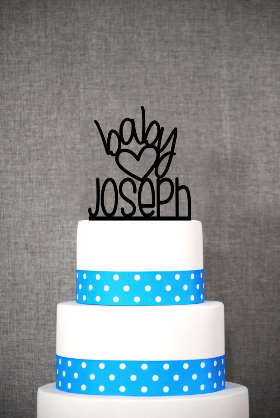 Wedding - Custom name baby topper - Baby Cake Topper by Chicago Factory- (S073)
