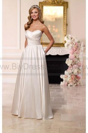 Mariage - Stella York Satin Wedding Dress Style 6201