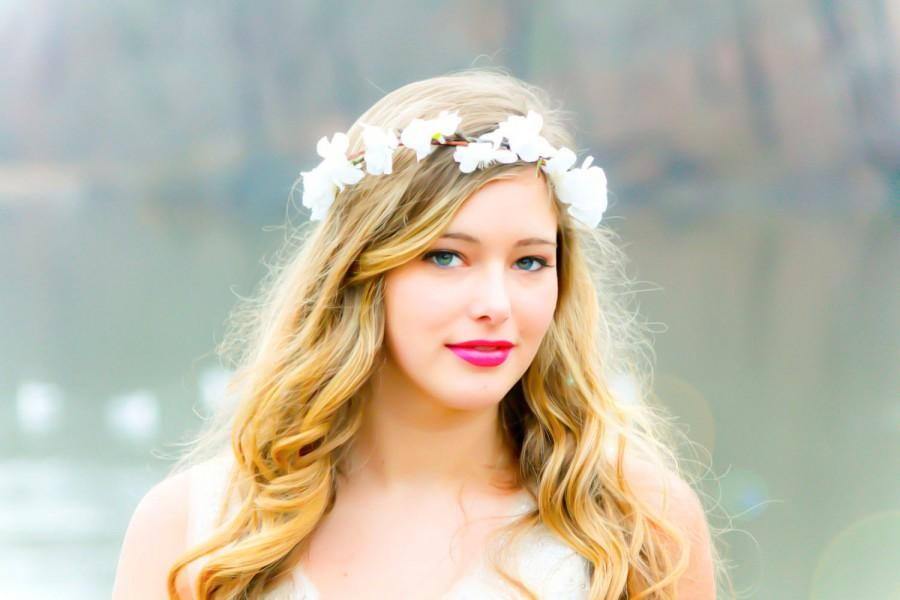 Hochzeit - flower hair, bridal flower crown, wedding headpiece, hair accessories, flower girl
