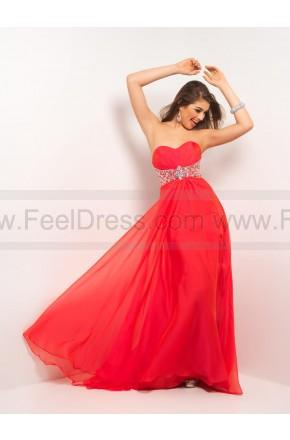 Wedding - Empire Sweetheart Beading Chiffon Red Evening Dresses