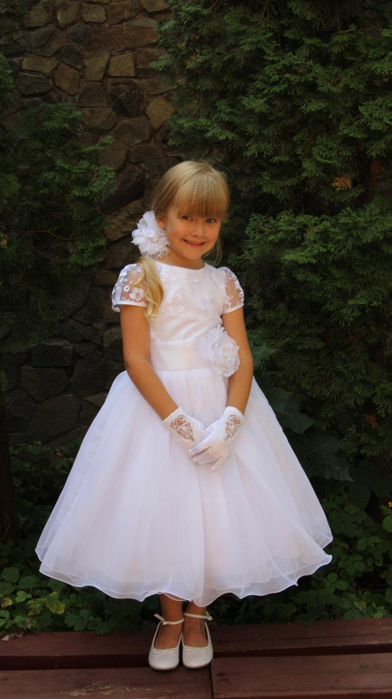 Amazoncom white flower girl dresses Clothing Shoes