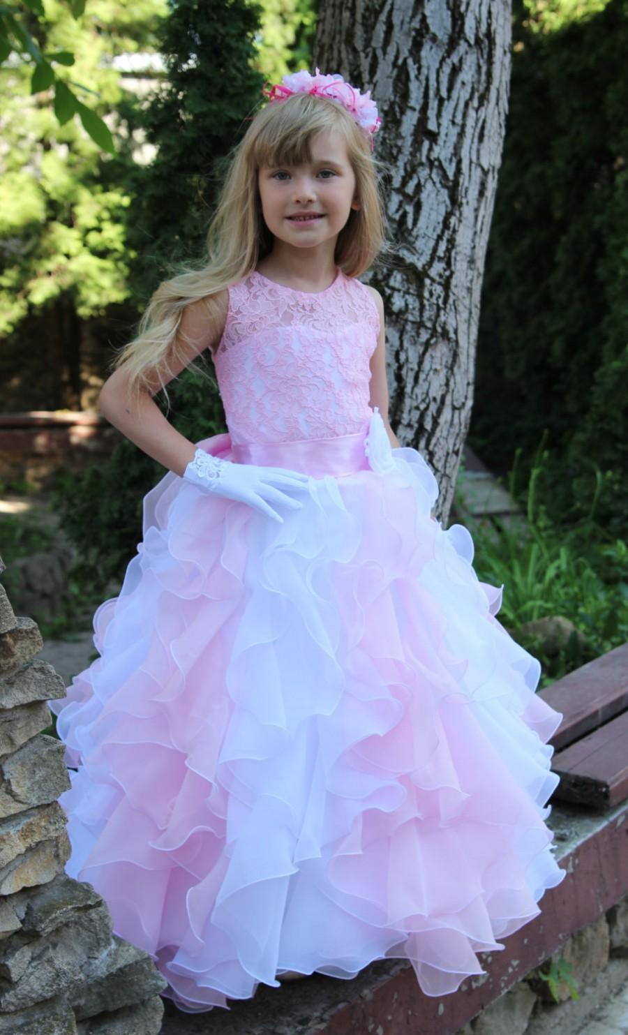 Chiffon Flower Girl Dress Birthday Wedding Party Holiday