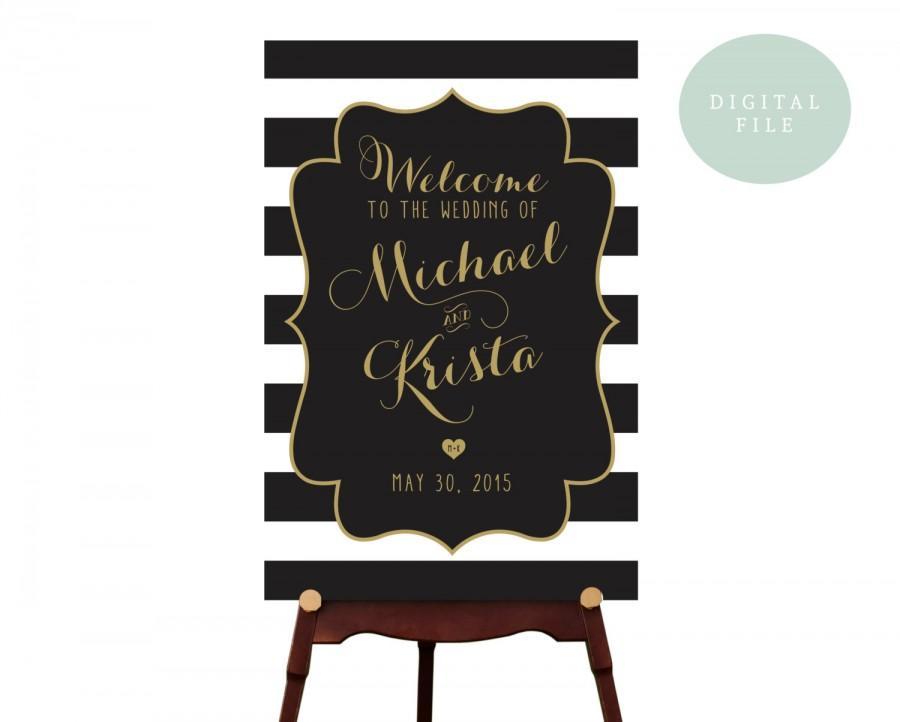 Mariage - PRINTABLE Large Custom Wedding Sign Printable // Welcome Wedding Sign // Wedding sign // DIGITAL