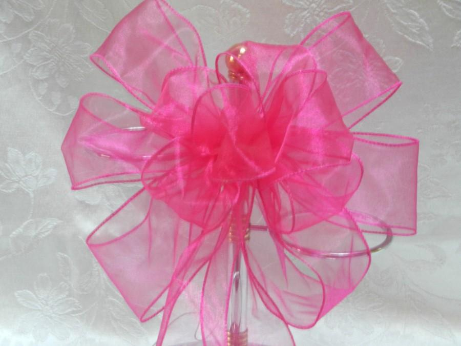 Mariage - Wedding/ Pew Bows set of 12 Hot Pink/ Fuchsia