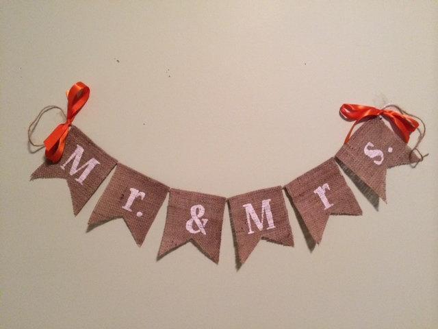 Wedding - Mr. & Mrs. wedding sign