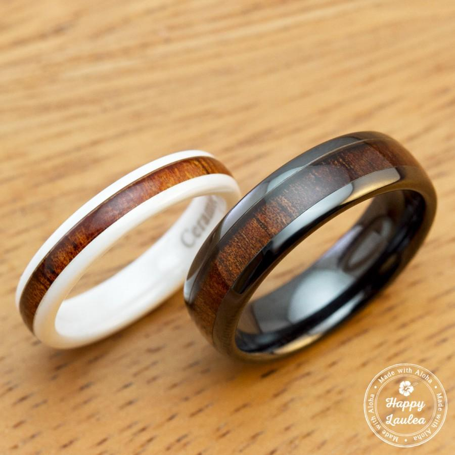 w awesome cool inner dome white ceramic koa wedding bands wholesale photo band ring a brilliant wood upright with products rings