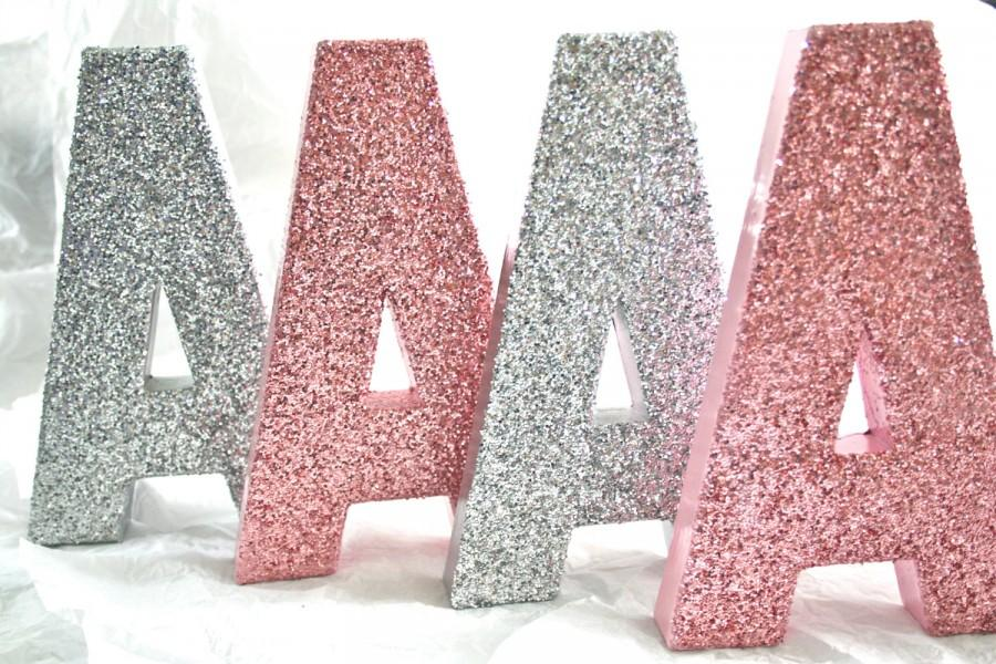 8 Tall Glittered Letters Numbers Wedding Nursery Home Party Decor Self Standing Any Color Priced Per Letter