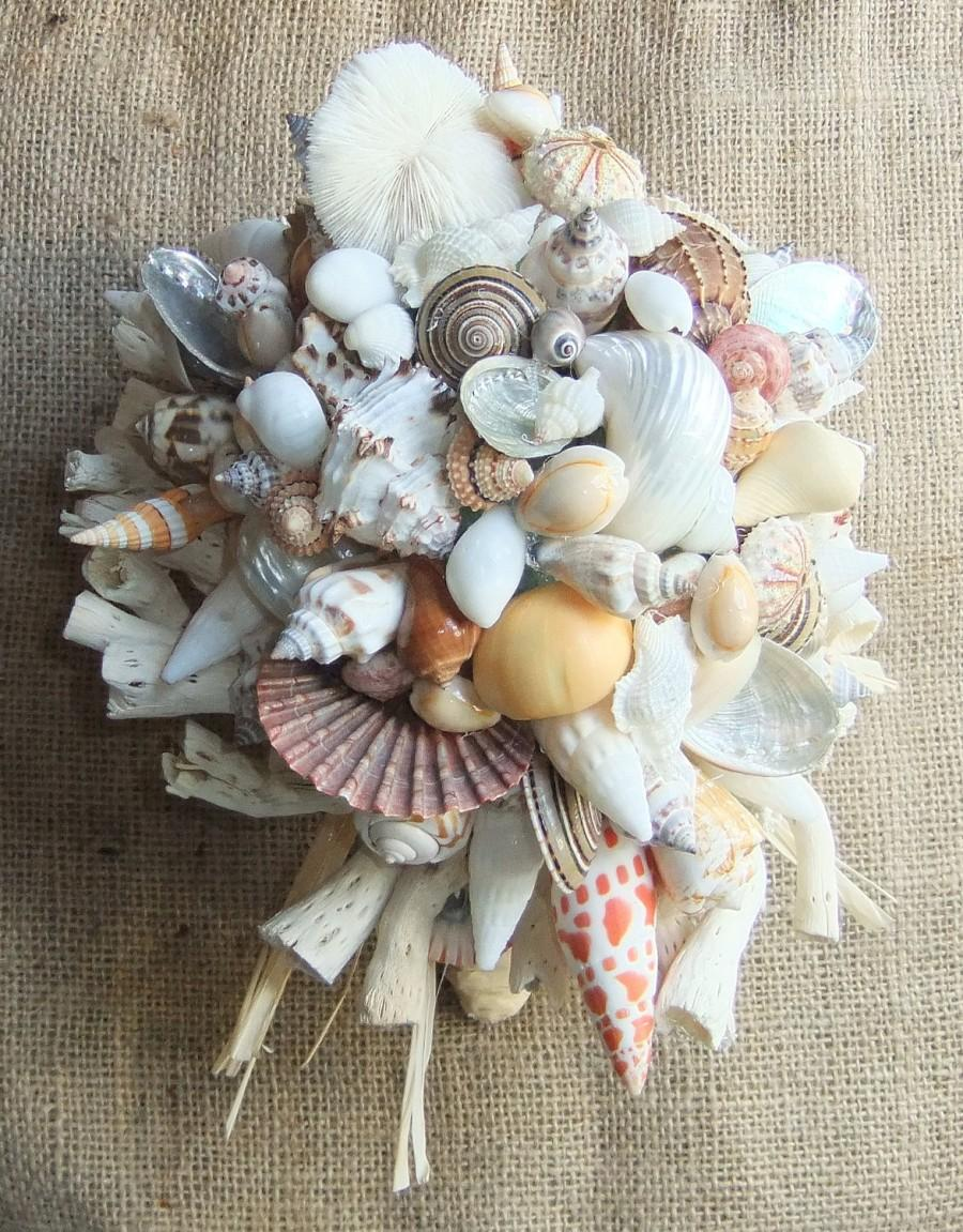 Hochzeit - Beach Wedding Seashell Bouquet