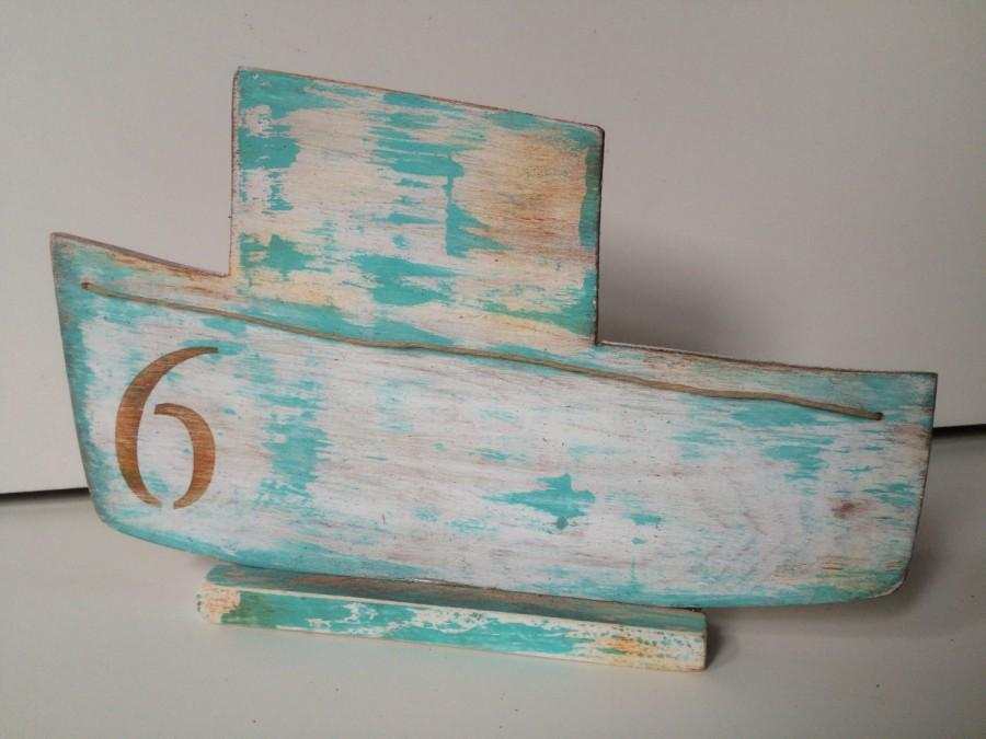 Hochzeit - Nautical Fishing Boat Table Number