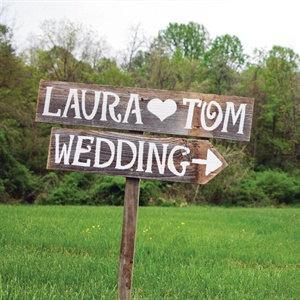Rustic Wedding Signs Personalized Romantic Outdoor Weddings Hand Painted Reclaimed Wood Vintage Road Barn