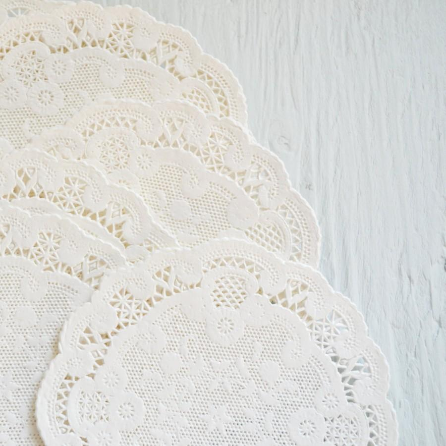 4 Inch French Lace Paper Doilies, Wedding Decor, Baby Shower Decor ...
