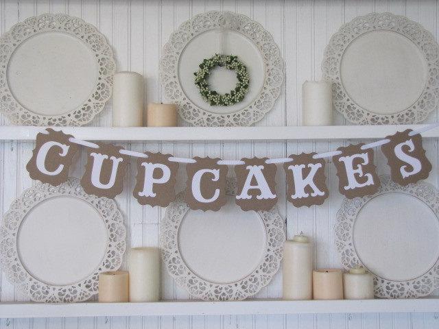 زفاف - CUPCAKES  Banner for Weddings and  Parties