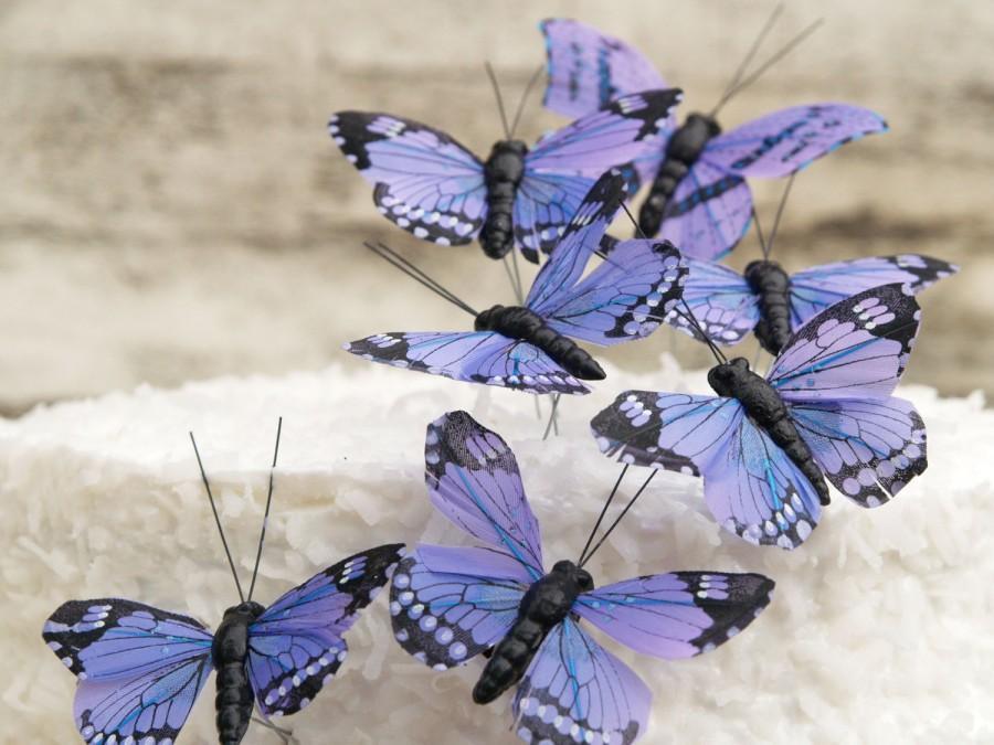زفاف - Purple Butterfly Cake Toppers for your Lavender Wedding, Woodland Spring Garden Theme