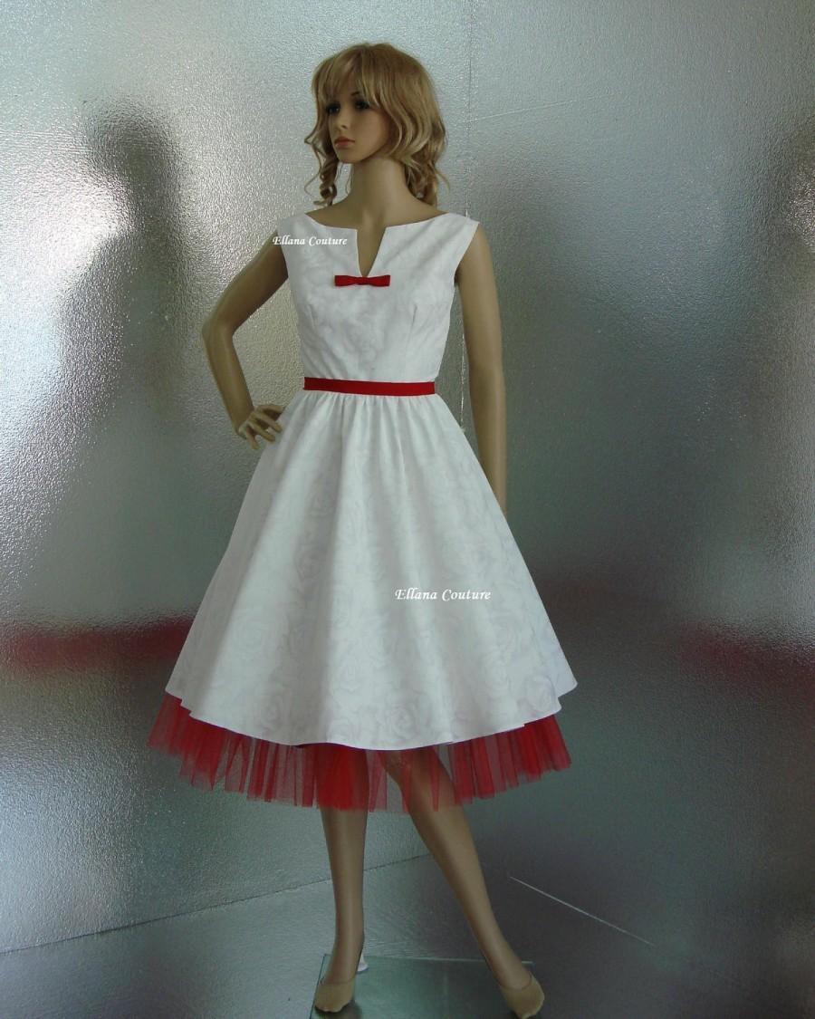 Wedding - SAMPLE SALE. Vintage Inspired Cotton Wedding Dress.