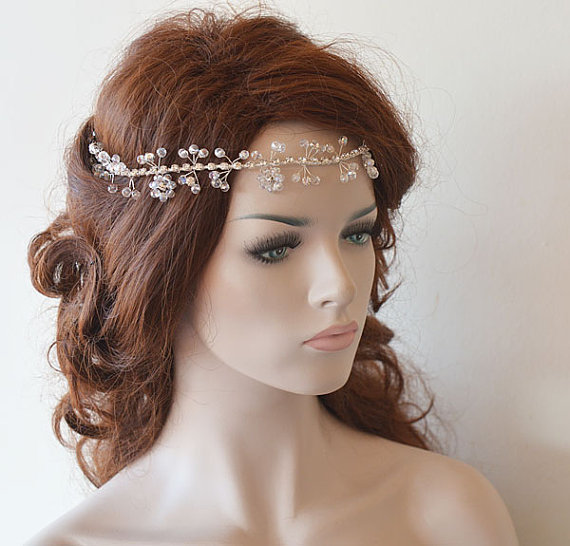 Wedding headband bridal hair vine bridal headband for Where to buy wedding accessories