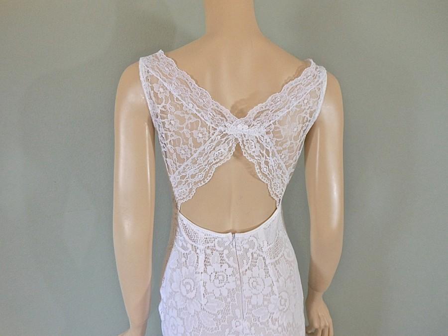White bohemian wedding gown hippie boho wedding dress for Bohemian mermaid wedding dress