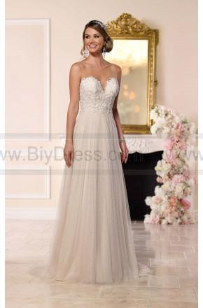 Hochzeit - Stella York Beaded Lace French Tulle Wedding Dress Style 6215