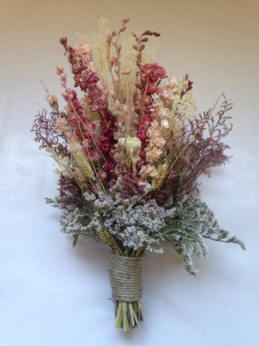 Fall bridal bouquet wedding dried bridal party bouquets dried fall bridal bouquet wedding dried bridal party bouquets dried flowers shabby chic wedding bridal party bridesmaid bouquet izmirmasajfo Images