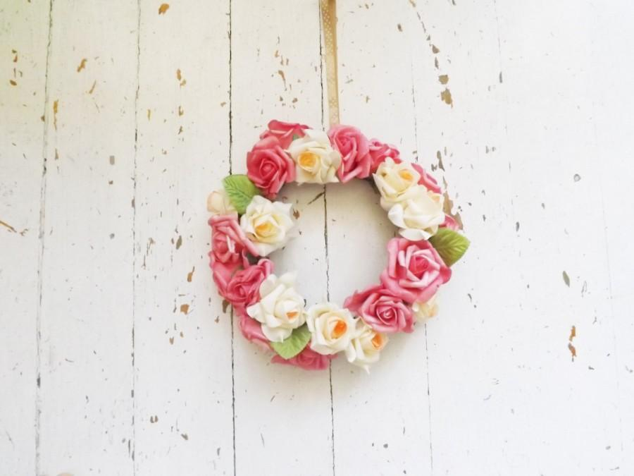 Spring Front Door Wreath Wreath Roses, Wedding Wreath, Floral Wreath, Seasonal  Wreath, ,Rustic, Wedding Car Garland