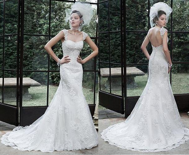 Backless Wedding Gowns: New 2016 Backless Wedding Dresses Applique Beaded Court