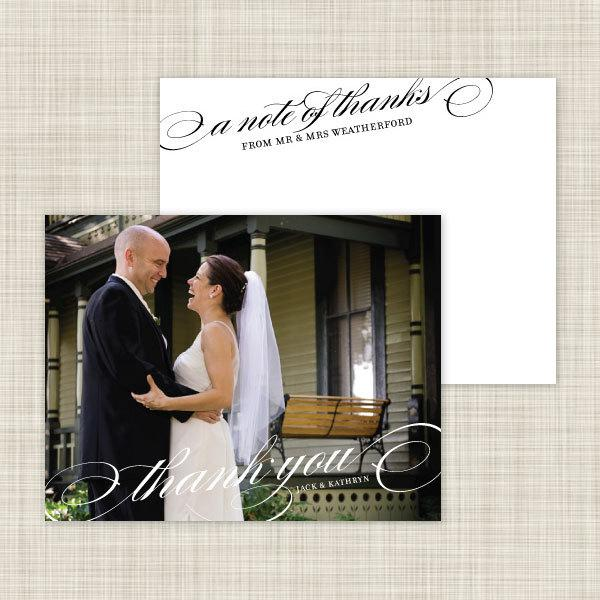 Mariage - Wedding Photo Thank You Cards - Wedding Thank You Notes