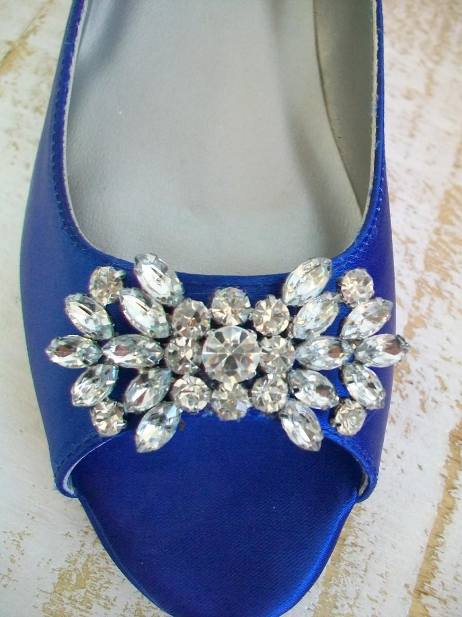 Свадьба - Wedding Shoes - Flats - Wedding Flats - Wedding Ballet Flats - Blue Wedding Shoes - - Sapphire Blue - Shoes - Wide Sizes -  Over 200 Colors