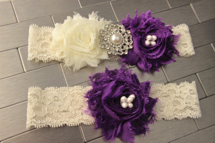 bb368d5f1f7 Eggplant Garder Purple Wedding Garter Belt - Royal Purple Bridal Garters  Eggplant Wedding Garder Belt Plum Garter Set Purple Bridal Lingerie