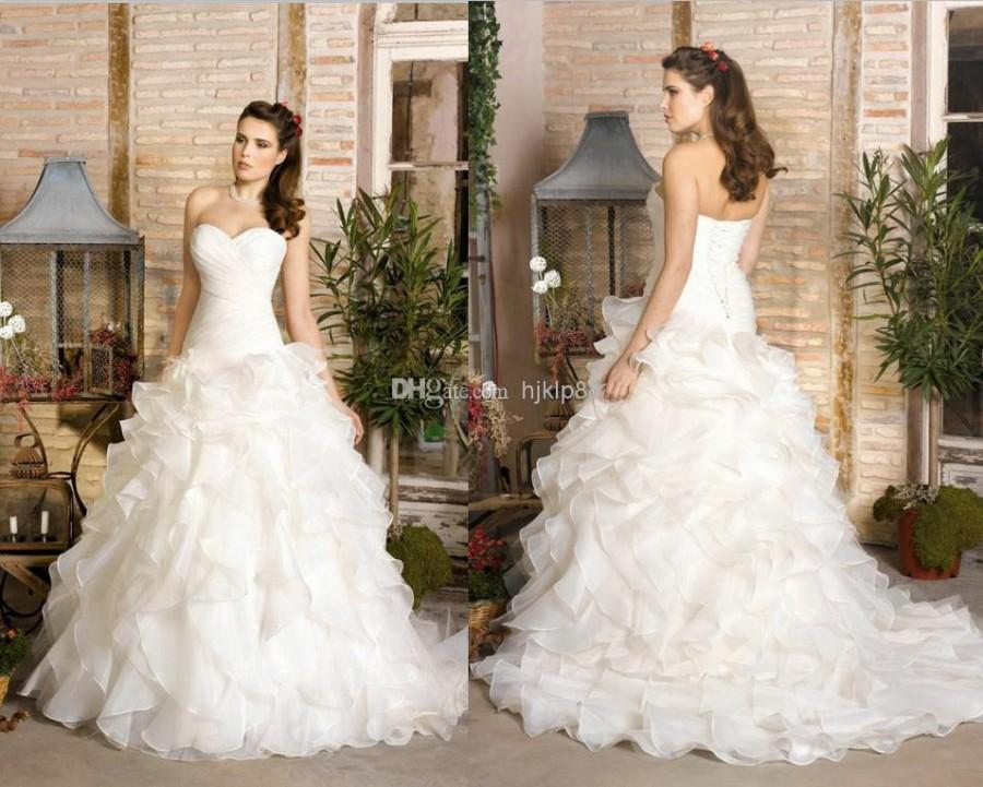 2014 New Strapless Sweetheart A Line Plus Size Sexy Lace Up Wedding
