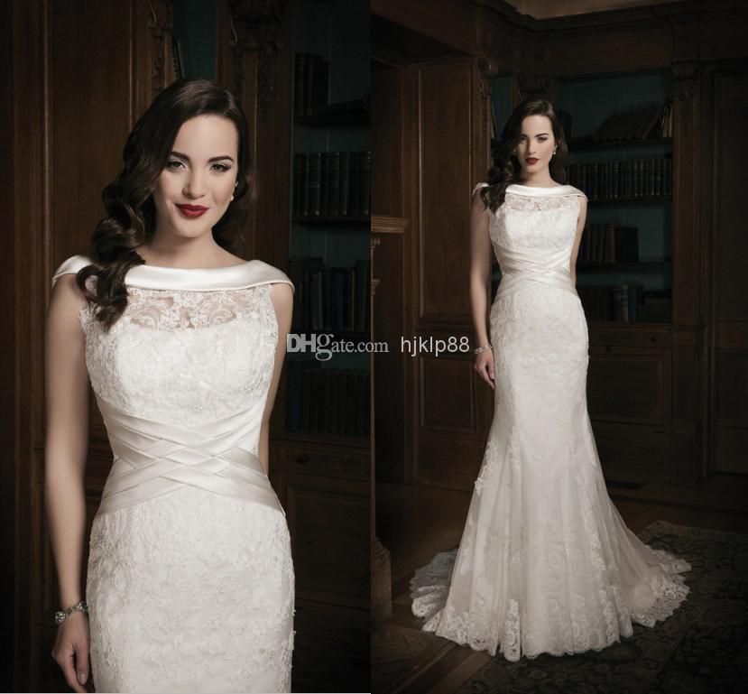 2014 Beautiful Mermaid Wedding Gowns Bridal Dresses Gown