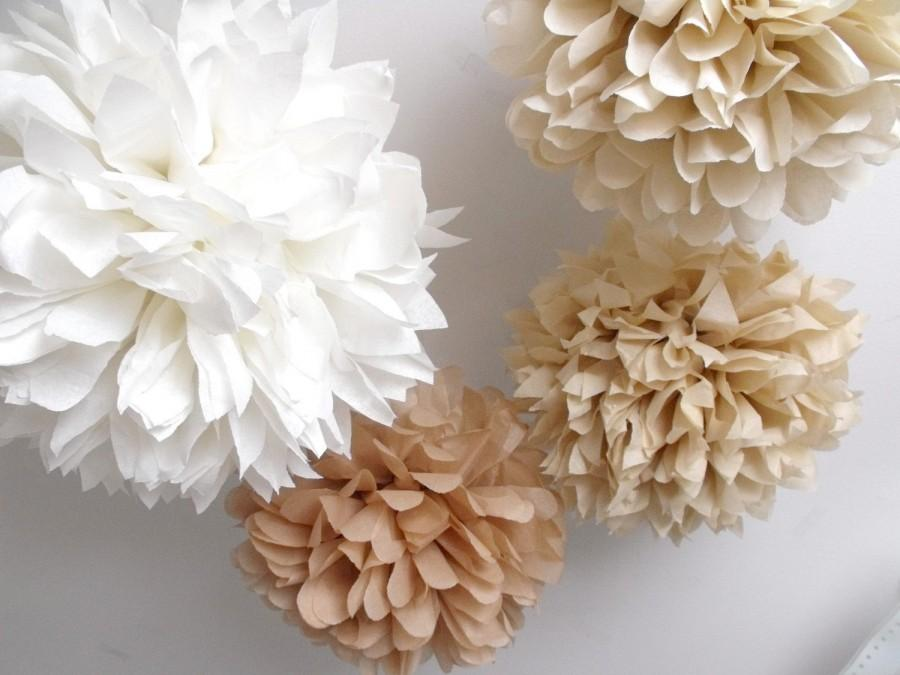 Wedding - Tissue paper pom poms  ... 10 Poms  - paper flowers ... pick your colors