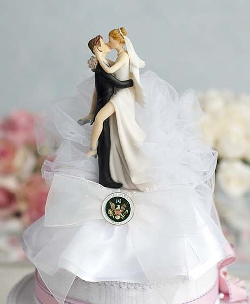 Mariage - Military Sexy Cake Topper- Air Force - Navy - Army - Marines - Custom Painted Hair Color Available - 109005