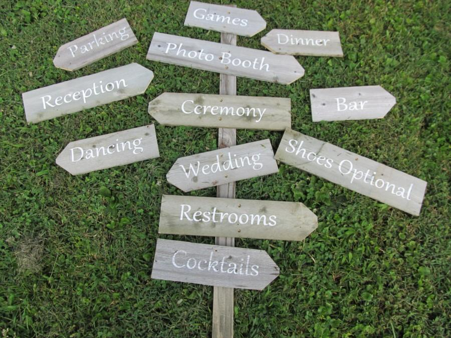 Directional Wedding Signs On A Stake Build Your Own Personalized Handmade Rustic Sign For Beach Destination